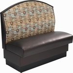 42'' Fully Upholstered Fan Back Single Sided Booth - Grade 4 Vinyl [AS-42-F-GR4-SAT]