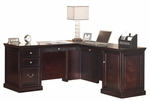 kathy ireland Home™ Fulton Collection 68.25''W L Shaped Work Station -Espresso [FL684R-FL684R-R-FS-KIMF]