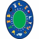 Fun with Animals Oval Cut Pile Rug