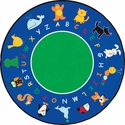 Fun with Animals Round Cut Pile Rug