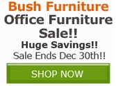 Furnish your home office in style, select Bush Furniture products on sale now!!