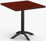 Fusion 1 Day Quick Ship 36'' x 36'' Breakroom Table with Arched Single Column X-Base [1D-FUSN-3636-SPT]