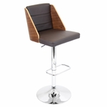 Galanti Barstool in Walnut and Brown [BS-JY-GAL-WL-BN-FS-LUMI]