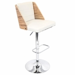 Galanti Barstool in Zebra Print and Cream [BS-JY-GAL-ZB-CR-FS-LUMI]