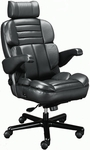 Galaxy Contoured Seat Office Chair with Padded Headrest - Leather [OF-GLXY1PC-L-FS-ARE]