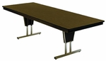 Customizable Rectangular or Boat-Shaped Galaxy Conference Table - 30''H [ML-881-BKS]