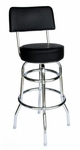 Galena Double Ring Chrome Stool in Black Vinyl Seat and Back [RBWB-BLV-BFMS]