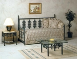 Rose Garden Wrought Iron Day Bed [GMC-IB10-3DB-FS-GCM]