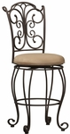 Gathered Back 24''H Swivel Counter Stool [02790MTL-01-KD-U-FS-LIN]
