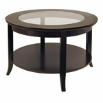 Genoa Coffee Table with Glass Inset [92219-FS-WWT]