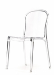 Genoa Polycarbonate Dining Chair - Clear [RPC-GENOA-CL-CSP]