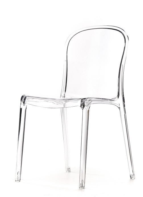 genoa polycarbonate dining chair clear rpc genoa cl by commercial
