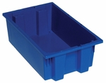 18''D x 11''W x 6''H Genuine Stack and Nest Tote - Blue [SNT180-BL-QSS]