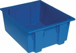 23.5''D x 19.5''W x 10''H Genuine Stack and Nest Tote - Blue [SNT225-BL-QSS]