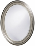 George Nickel Oval Mirror [40109-FS-HEC]