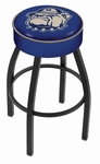 Georgetown University 25'' Black Wrinkle Finish Swivel Backless Counter Height Stool with 4'' Thick Seat [L8B125GRGTWN-FS-HOB]