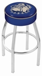Georgetown University 25'' Chrome Finish Swivel Backless Counter Height Stool with 4'' Thick Seat [L8C125GRGTWN-FS-HOB]