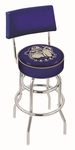 Georgetown University 25'' Chrome Finish Swivel Counter Height Stool with Double Ring Base [L7C425GRGTWN-FS-HOB]