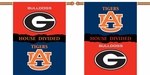 Georgia - Auburn 2-Sided 28'' X 40'' Banner with Pole Sleeve House Divided [96745-FS-BSI]