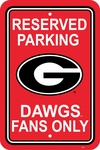 Georgia Bulldogs 12'' X 18'' Plastic Parking Sign [50221-FS-BSI]