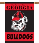 Georgia Bulldogs 2-Sided 28'' X 40'' Banner with Pole Sleeve - Mascot Design [96107-FS-BSI]