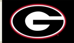 Georgia Bulldogs 3' X 5' Flag with Grommets - Black Logo Design [95507-FS-BSI]