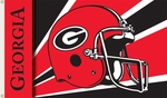 Georgia Bulldogs 3' X 5' Flag with Grommets - Helmet Design [95307-FS-BSI]
