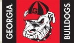 Georgia Bulldogs 3' X 5' Flag with Grommets - Mascot Design [95107-FS-BSI]
