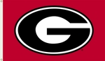 Georgia Bulldogs 3' X 5' Flag with Grommets - Red Logo Design [95607-FS-BSI]