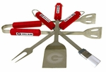 Georgia Bulldogs 4 Pc Bbq Set [61007-FS-BSI]