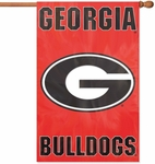 Georgia Bulldogs Applique Banner Flag [AFGA-FS-PAI]
