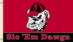 Georgia Bulldogs 'Sic 'Em Dawgs' 3' X 5' Flag with Grommets [95807-FS-BSI]