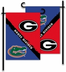 Georgia - Florida 2-Sided Garden Flag - Rivalry House Divided [83709-FS-BSI]