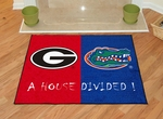 Georgia - Florida House Divided Rugs 34'' x 45'' [6030-FS-FAN]