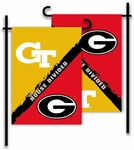 Georgia - Ga. Tech 2-Sided Garden Flag - Rivalry House Divided [83749-FS-BSI]