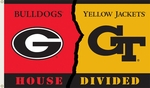 Georgia - Ga. Tech 3' X 5' Flag with Grommets - Rivalry House Divided [95749-FS-BSI]