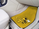 Georgia Tech 2-piece Carpeted Car Mats 18'' x 27'' - Yellow [5082-FS-FAN]