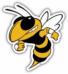 Georgia Tech Yellow Jackets 12'' Vinyl Magnet [58720-FS-BSI]