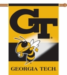 Georgia Tech Yellow Jackets 2-Sided 28'' X 40'' Banner with Pole Sleeve [96049-FS-BSI]