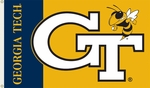 Georgia Tech Yellow Jackets 3' X 5' Flag with Grommets [95049-FS-BSI]