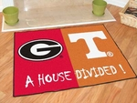 Georgia - Tennessee House Divided Rugs 34'' x 45'' [6031-FS-FAN]