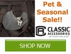 Save on all Pet Accessores and Seaonal Storage by