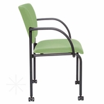 Getti Upholstered Open Back Four Post Side Chair on Casters [GT3074-FS-VALO]
