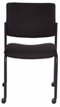 Getti Upholstered Open Back Four Post Side Chair on Casters - Set of 2 [GT3074-FS-VALO]