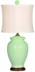 Splash Ceramic Ginger Jar 18''H Table Lamp with White Sewn Silk Shade - Aegean [10T232AN-FS-PAS]