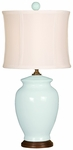 Splash Ceramic Ginger Jar 18''H Table Lamp with White Sewn Silk Shade - Sky [10T232SK-FS-PAS]