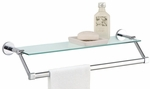 Glass Shelf with Chrome Towel Bar [16916-FS-OIA]