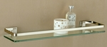 Glass Shelf with Nickel finish and Rail [16911-FS-OIA]