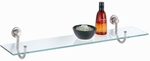 Glass Shelf with Satin Nickel Mounts [16907-FS-OIA]
