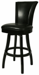 Glenwood 30''H Black Swivel Barstool - Armless [QLGL219227865-FS-PSTL]